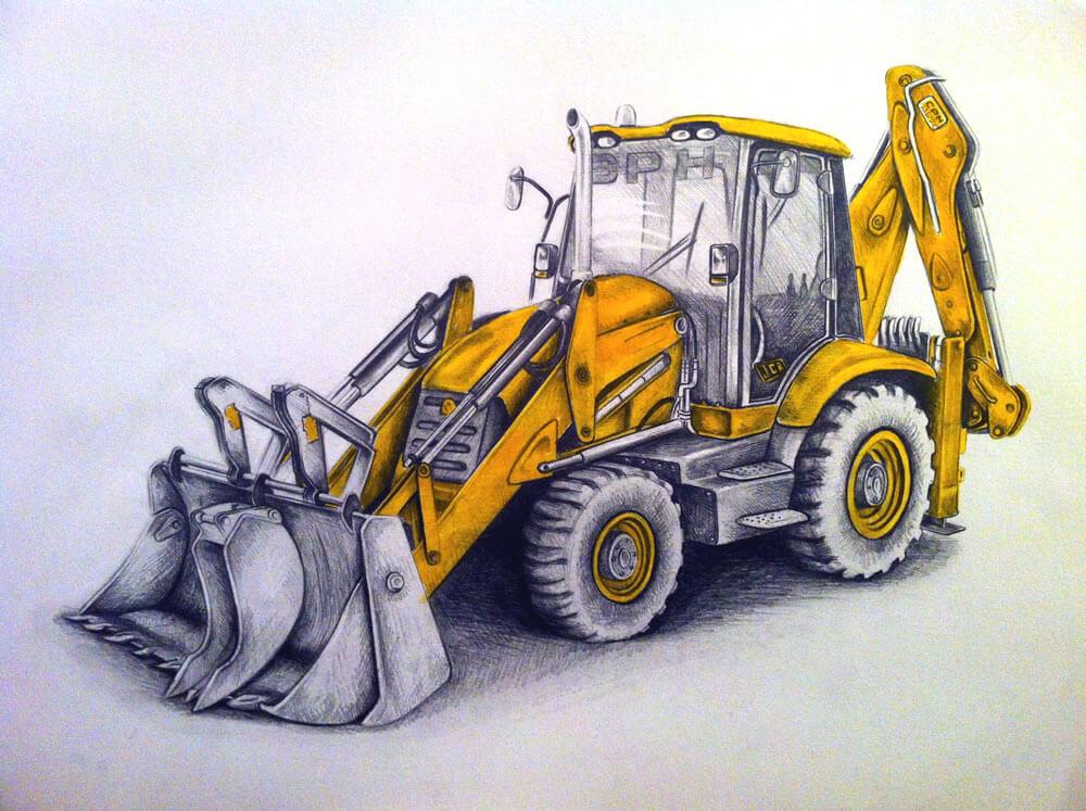 Jcb Drawing | Commission Hand Drawn Portraits